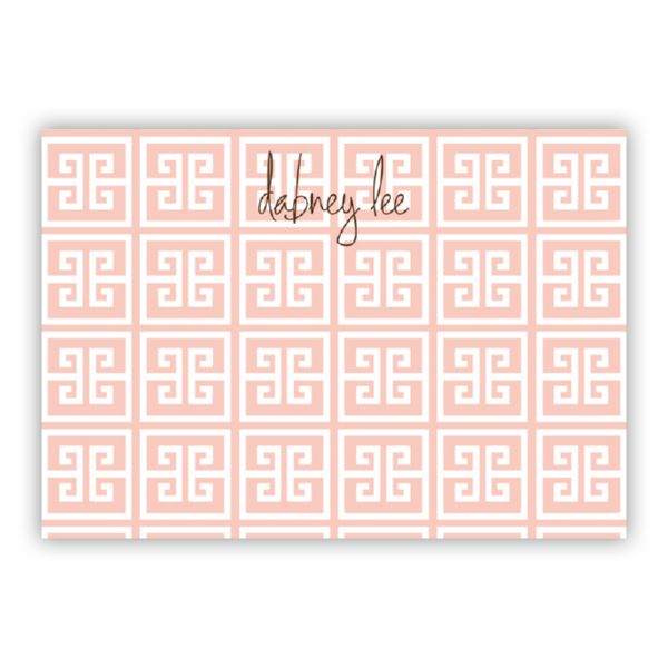 Greek Key Personalized Desk Pad, 150 sheets