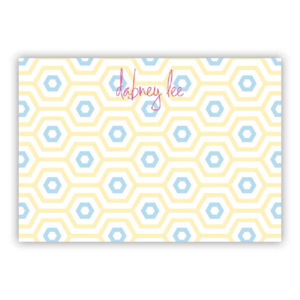 Happy Hexagon Personalized Desk Pad, 150 sheets