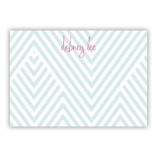 Modern Chevron Personalized Desk Pad, 150 sheets