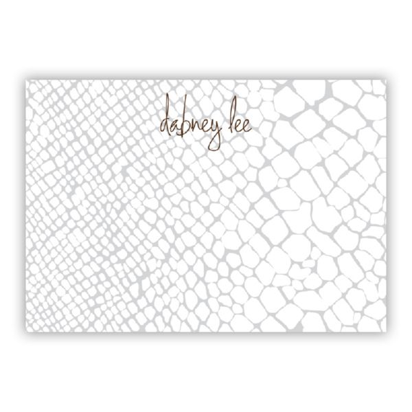 Snakeskin Personalized Desk Pad, 150 sheets