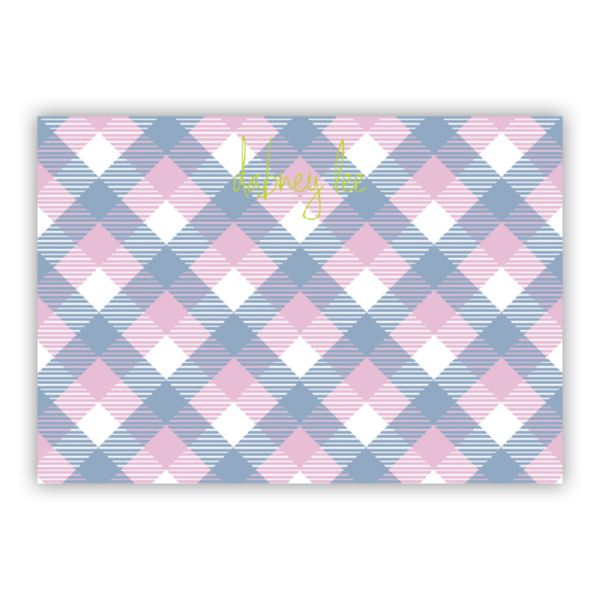 Tartan Personalized Desk Pad, 150 sheets