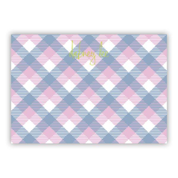 Tartan Personalized Desk Pad, 150 sheets