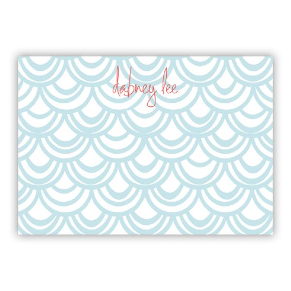 Seashells Personalized Desk Pad, 150 sheets