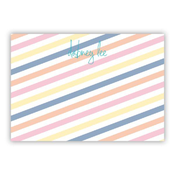 Fruit Stripe Personalized Desk Pad, 150 sheets