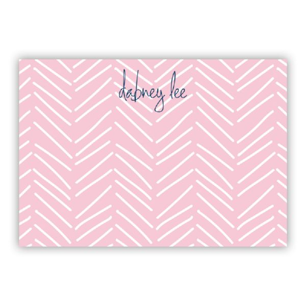 Little Lines Personalized Desk Pad, 150 sheets