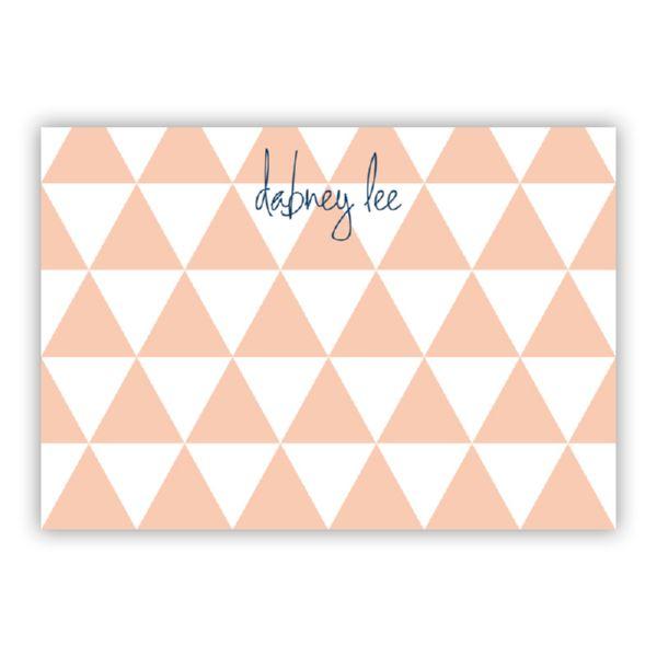 Triangles Personalized Desk Pad, 150 sheets