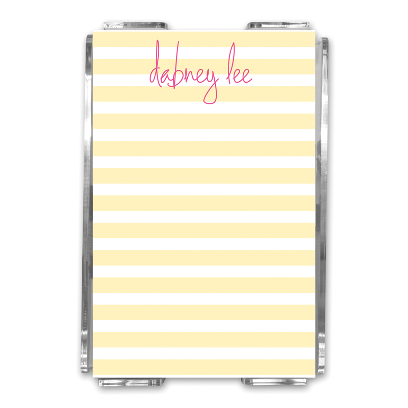 Cabana Personalized Memo Notes in Holder (150 sheets)