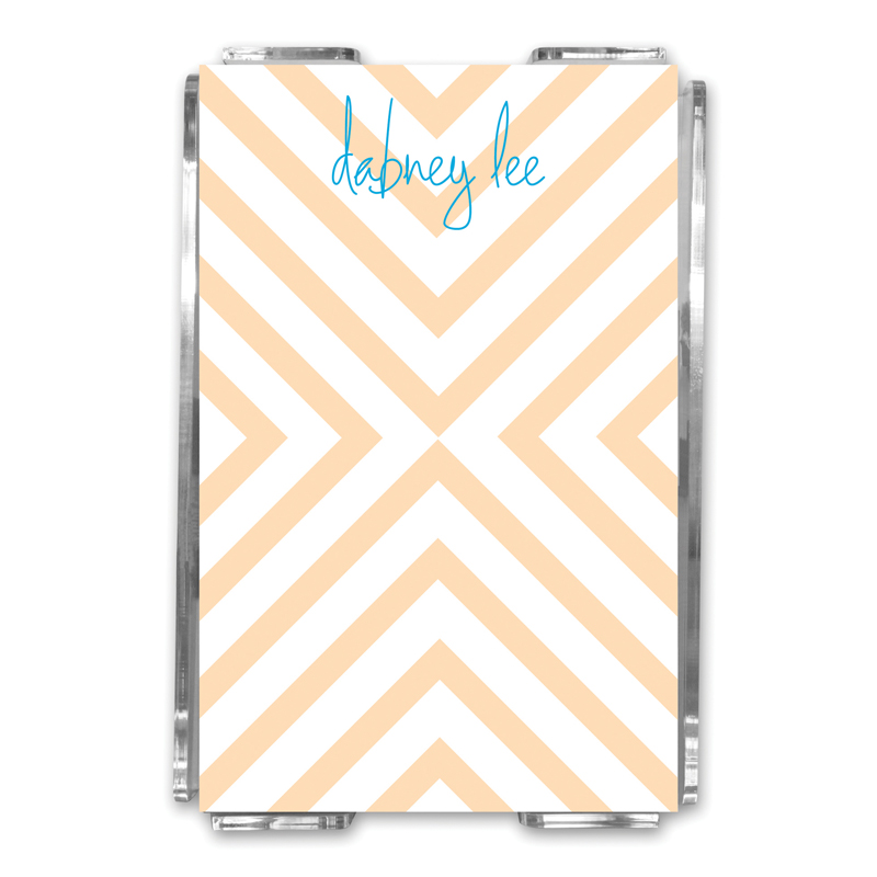 Chevron Personalized Memo Notes in Holder (150 sheets)