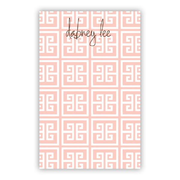Greek Key Personalized Loose Refill Note Sheets (150 sheets)
