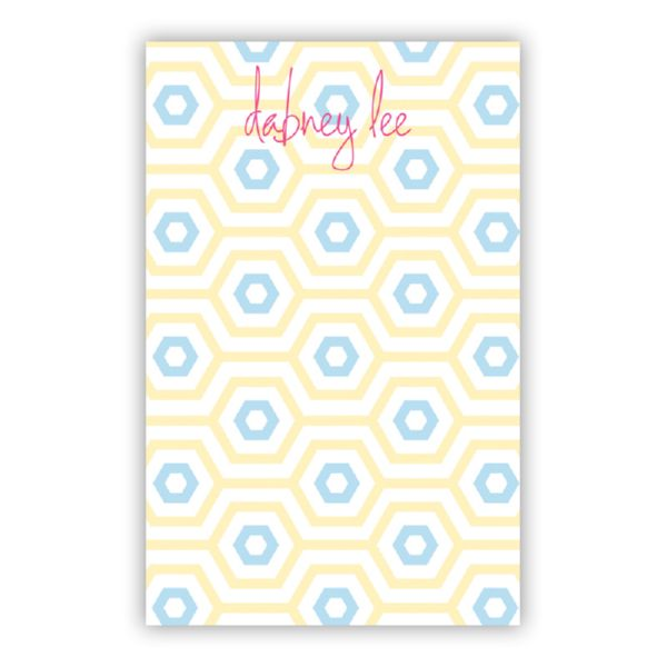 Happy Hexagon Personalized Everyday Pad, 150 sheets