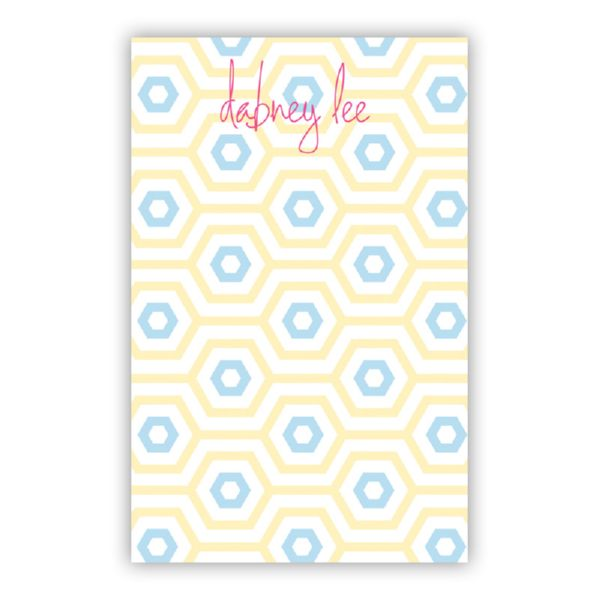 Happy Hexagon Personalized Loose Refill Note Sheets (150 sheets)