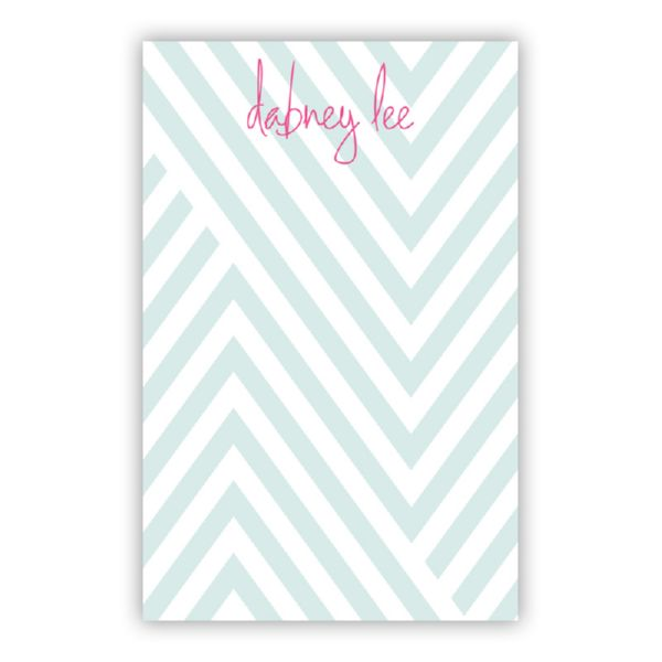 Modern Chevron Personalized Everyday Pad, 150 sheets