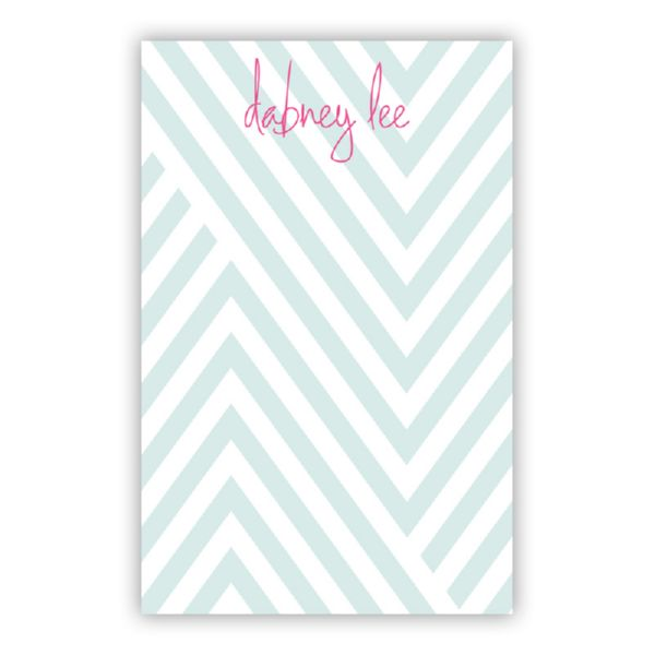 Modern Chevron Personalized Loose Refill Note Sheets (150 sheets)