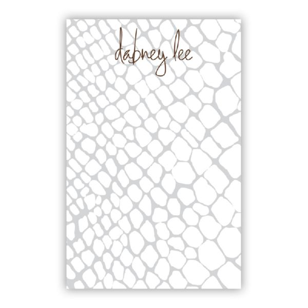 Snakeskin Personalized Everyday Pad, 150 sheets