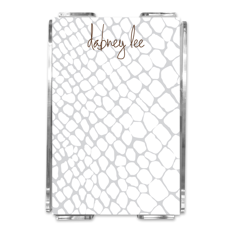 Snakeskin Personalized Memo Notes in Holder (150 sheets)