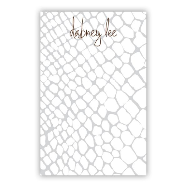 Snakeskin Personalized Loose Refill Note Sheets (150 sheets)