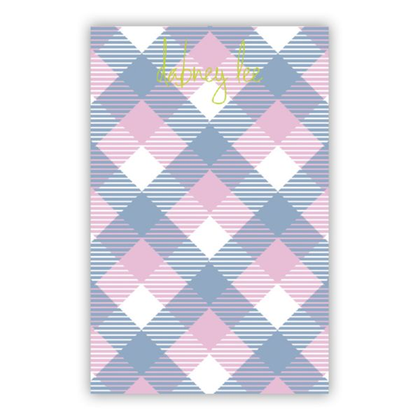 Tartan Personalized Everyday Pad, 150 sheets