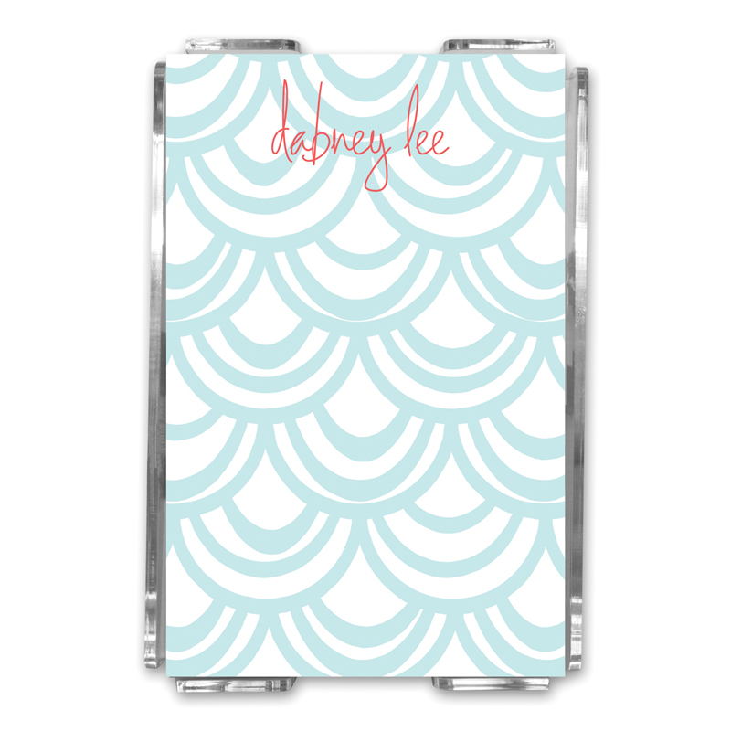 Seashells Personalized Memo Notes in Holder (150 sheets)