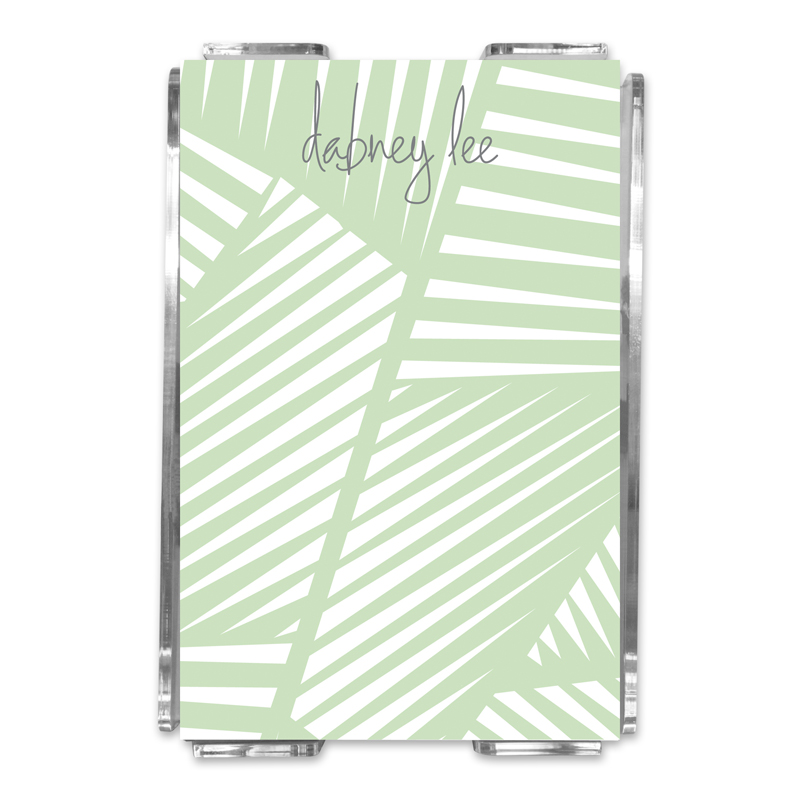 Palm Personalized Memo Notes in Holder (150 sheets)