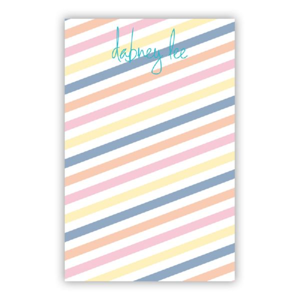 Fruit Stripe Personalized Everyday Pad, 150 sheets