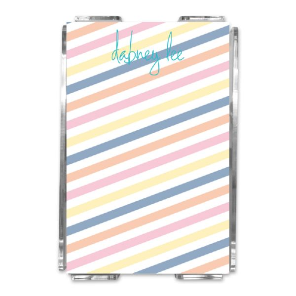 Fruit Stripe Personalized Memo Notes in Holder (150 sheets)