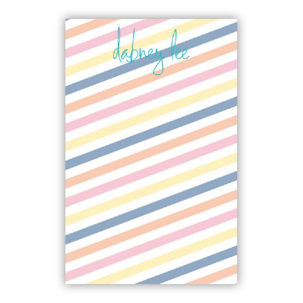 Fruit Stripe Personalized Loose Refill Note Sheets (150 sheets)