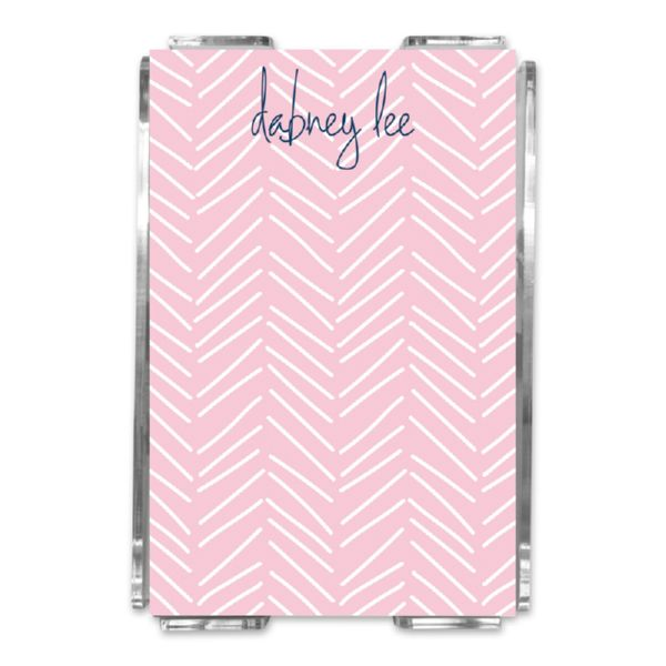 Little Lines Personalized Memo Notes in Holder (150 sheets)