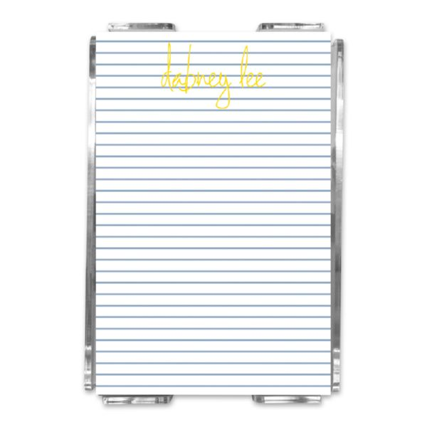 Pinny Personalized Memo Notes in Holder (150 sheets)