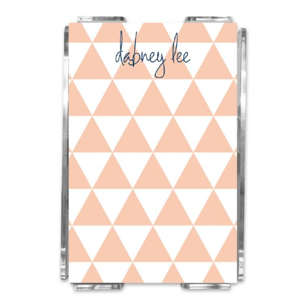 Triangles Personalized Memo Notes in Holder (150 sheets)
