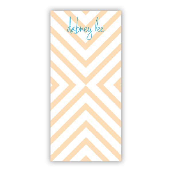 Chevron Personalized Grocery Pad (150 sheets)