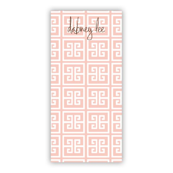 Greek Key Personalized Grocery Pad (150 sheets)