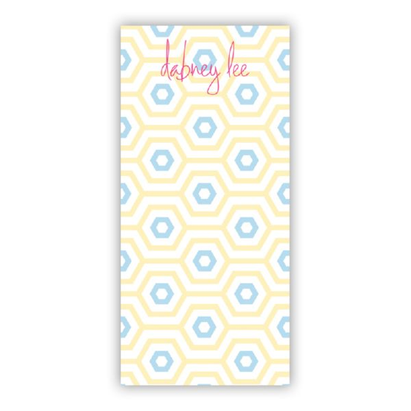 Happy Hexagon Personalized Grocery Pad (150 sheets)