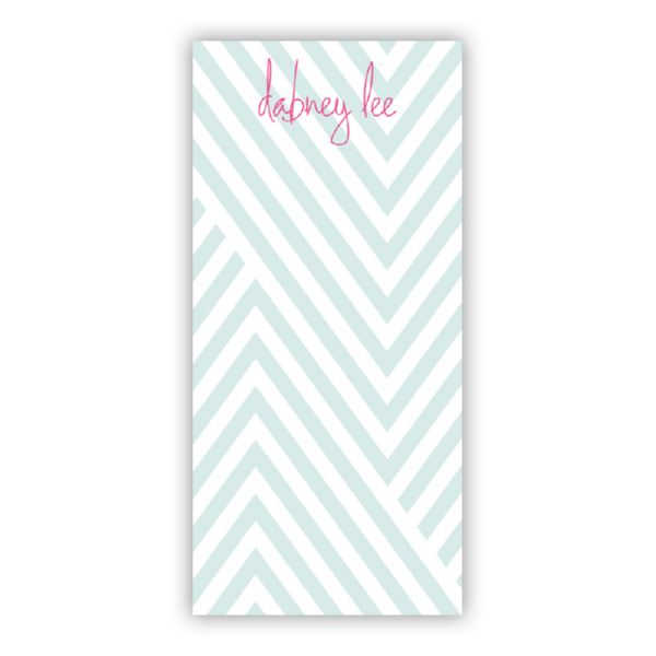 Modern Chevron Personalized Grocery Pad (150 sheets)