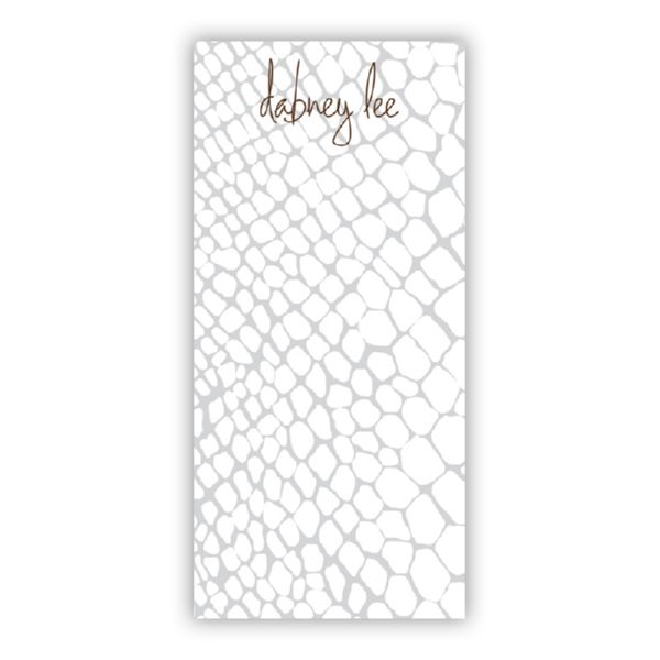 Snakeskin Personalized Grocery Pad (150 sheets)