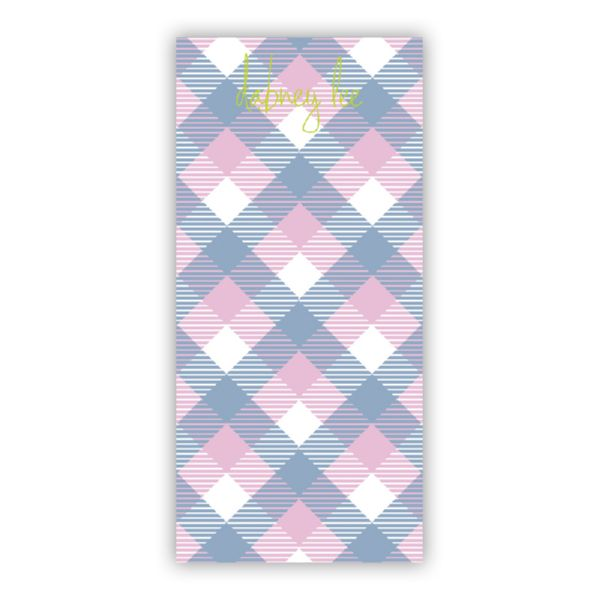 Tartan Personalized Grocery Pad (150 sheets)
