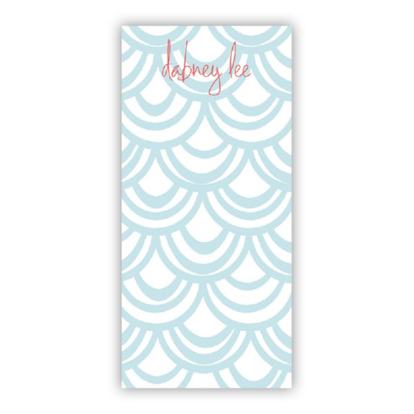 Seashells Personalized Grocery Pad (150 sheets)
