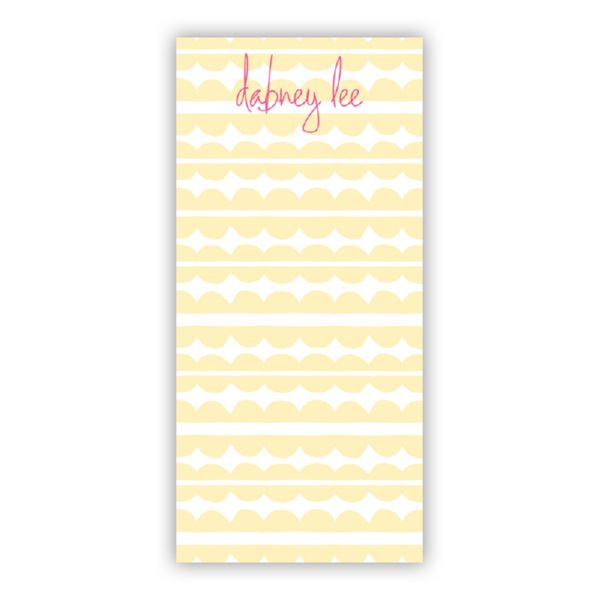 Caterpillar Personalized Grocery Pad (150 sheets)