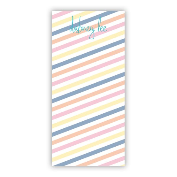 Fruit Stripe Personalized Grocery Pad (150 sheets)