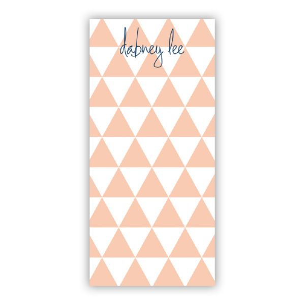 Triangles Personalized Grocery Pad (150 sheets)