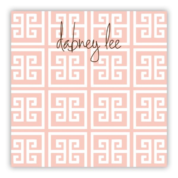 Greek Key Personalized Huey Square NotePad (150 sheets)