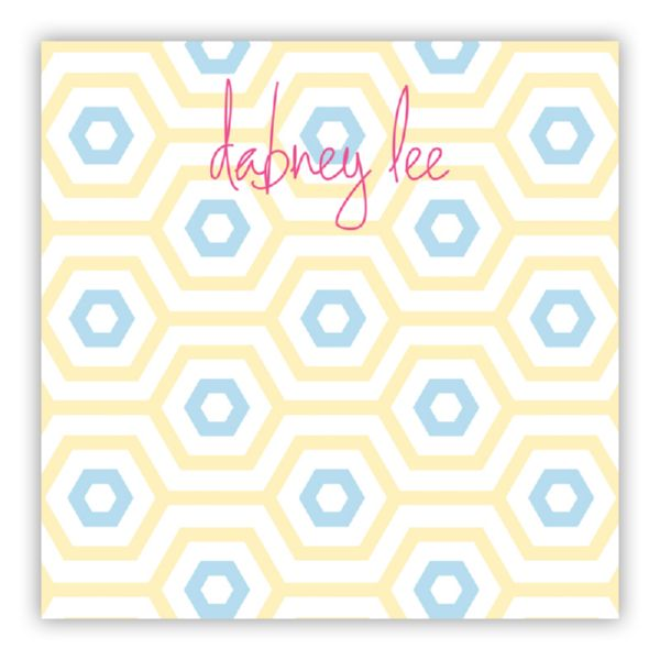 Happy Hexagon Personalized Huey Square NotePad (150 sheets)