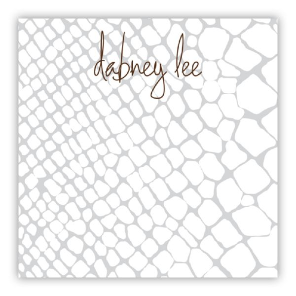 Snakeskin Personalized Huey Square NotePad (150 sheets)