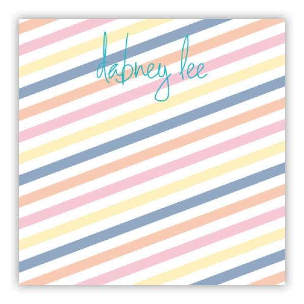 Fruit Stripe Personalized Huey Square NotePad (150 sheets)