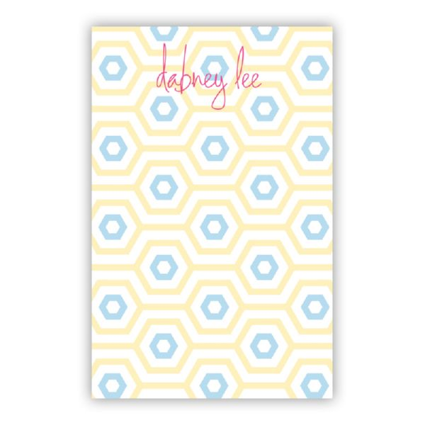 Happy Hexagon Personalized Super NotePad (150 sheets)
