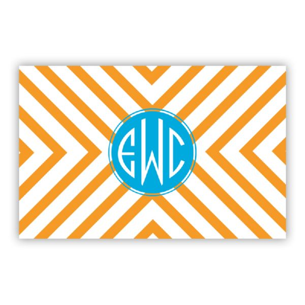 Chevron Personalized Double-Sided Laminated Placemat