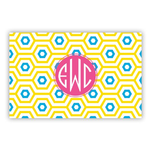 Happy Hexagon Personalized Double-Sided Laminated Placemat