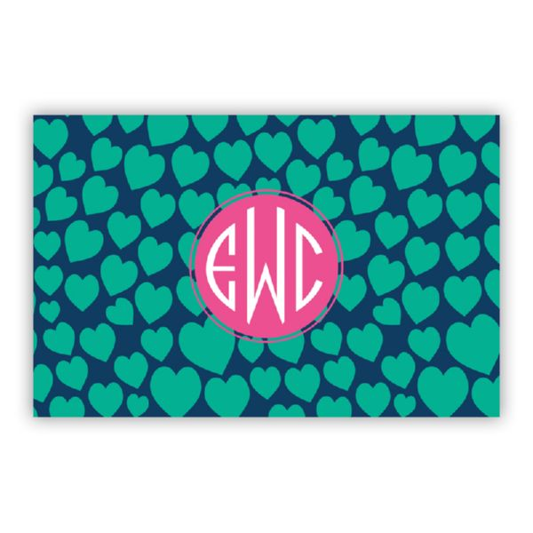 Love Struck Personalized Double-Sided Laminated Placemat