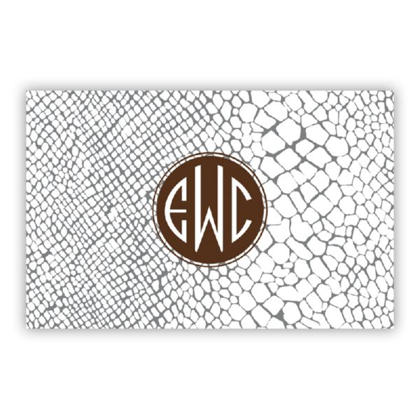 Snakeskin Personalized Double-Sided Laminated Placemat