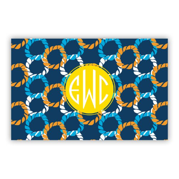 Nautical Knots Personalized Double-Sided Laminated Placemat