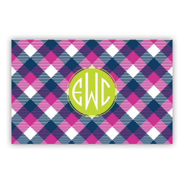 Tartan Personalized Double-Sided Laminated Placemat